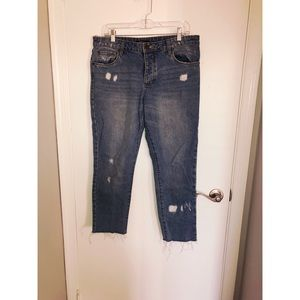 STS Blue - Cropped Distressed Jeans